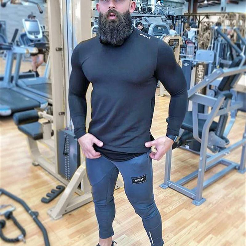 Tight Men Pants Fitness Gym Sweatpants (8)