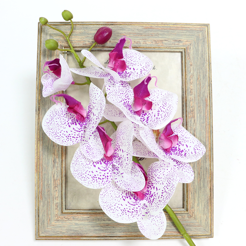 Artificial Orchid Flower 4 color Real Touch Artificial Butterfly Orchid flores artificial Wedding decoration home Festival Decor (21)