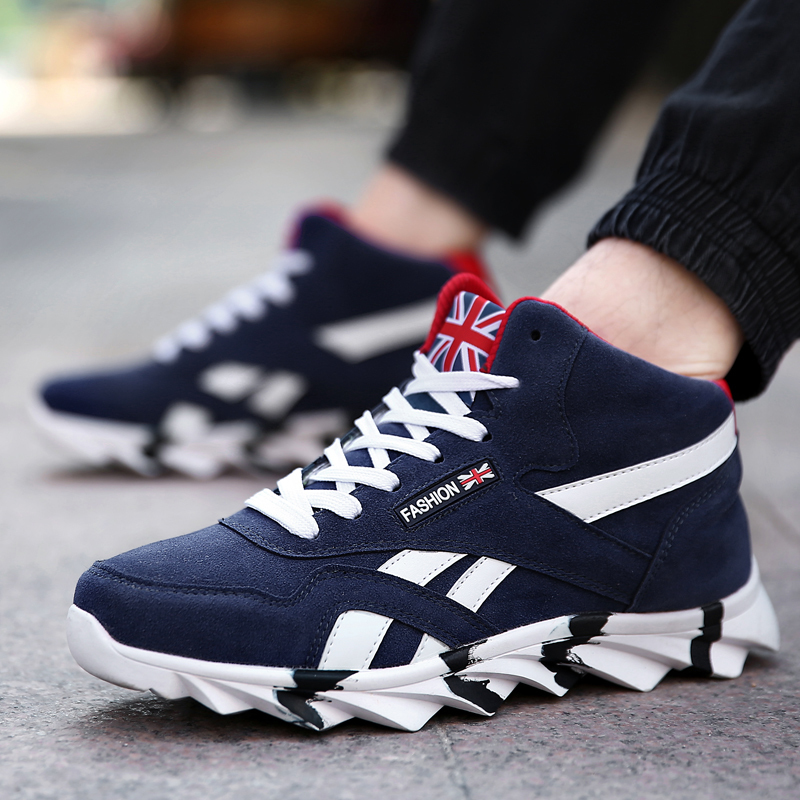 New High Top Fashion Staly Casual Shoes For Men Comfortable 2018 Autumn Male Sneakers Adult Lightweight Breathable Cotton Shoes MX190713