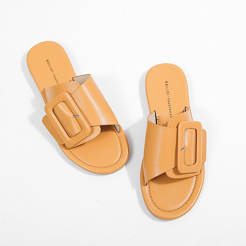 MILIUDE studio Sandals for Men Leather Elegant Slippers Premium Quality