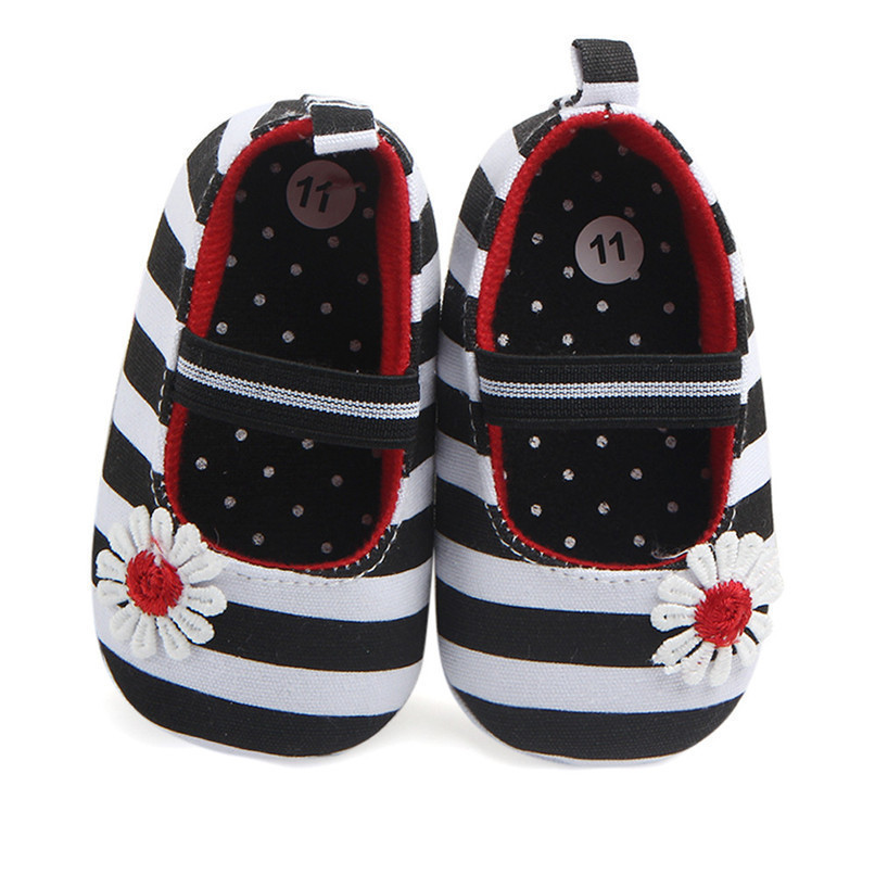 Summer Boys Girls Shoes Infant Kids Girls Baby Stripe Flower Shoes Soft Sole Anti-Slip Shoes First Walker NDA84L25 (3)