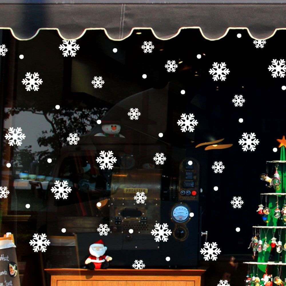 New Christmas Decorative Decal Window Stickers Removable DIY Xmas Glass Wall Stickers Merry Christmas Snowflake Sticker D19011702