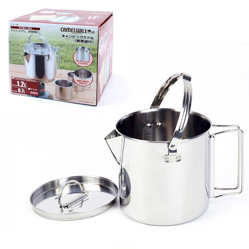 MOME-EB Outdoor Products 4L Camping Hanging Pot Single Pot Camping Picnic Soup Pot Wild Fishing Soup Pot