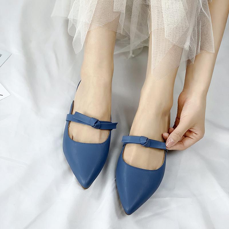 Nouvelles Chaussures Mary Jane Bride Cheville Talon Haut Bloc Nœud Papillon Robe De Loisirs Chaussures Taille