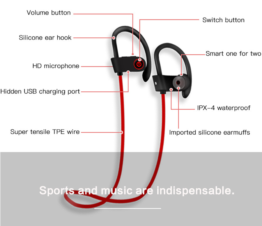 3 U8-Stereo-Wireless-earbuds-Active-Noise-Cancelling-Bluetooth-Headphones-BT-4-2-Waterproof-Headphone-Earphone