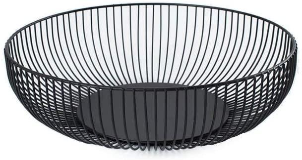Cesta De Frutas De Metal De Hierro Forjado Hueco Caramelo Bread Basket For Mesa De La Sala De Visualizaci/ón De Almacenamiento Brown