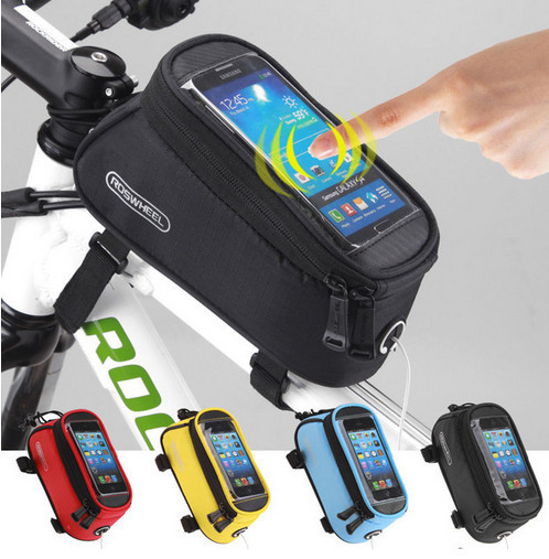 Bicycle Bike Bags For Iphone 7 6 6s Plus SE S7 S6 Edge Mobile Accessories Waterproof Cycling Tube Pouch Phone Bag With Frame