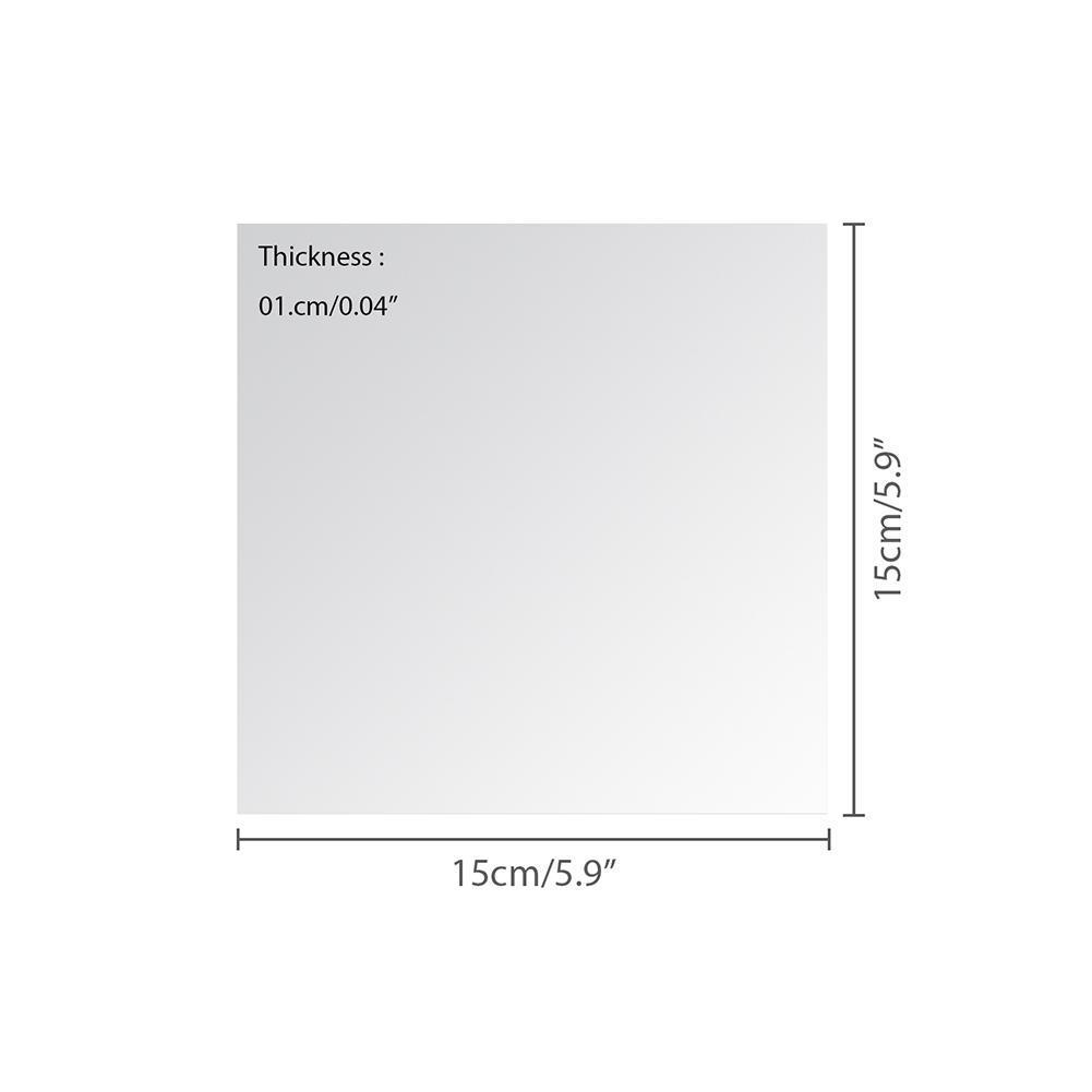9/16 Stücke Spiegel Wandaufkleber Flexible Spiegel Sheets Wandaufkleber Selbstklebende Kunststoffspiegel Fliesen für Wohnkultur 15X15 cm