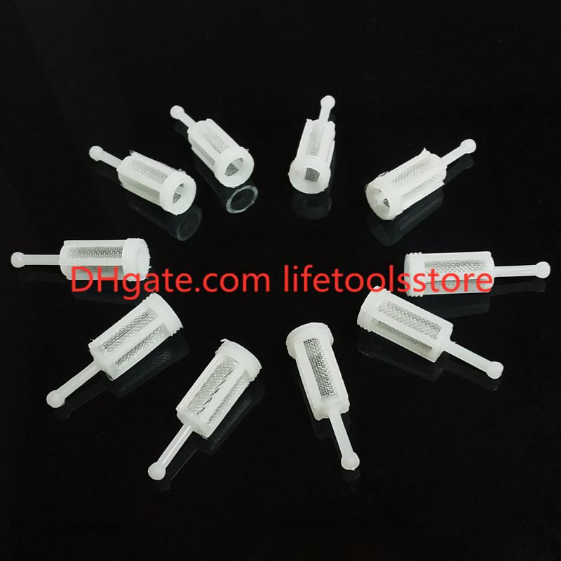 tipo de gravedad de pl/ástico D-11 mm, L-36 mm 10 filtros de pistola de pulverizaci/ón de gravedad filtro de spray para la mayor/ía de disolventes