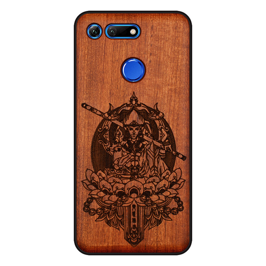 BOOGIC Original Wood Phone Case For Huawei Honor View 20 V20 V10 Wood +TPU Cover For Honor 8x Play 10 Ultra-Thin Wooden Coque (10)