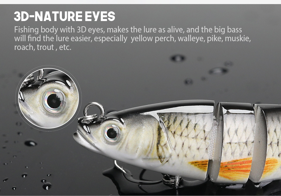 VTAVTA 14cm 23g Sinking Wobblers Fishing Lures Jointed Crankbait Swimbait 8 Segment Hard Artificial Bait For Fishing Tackle Lure 05