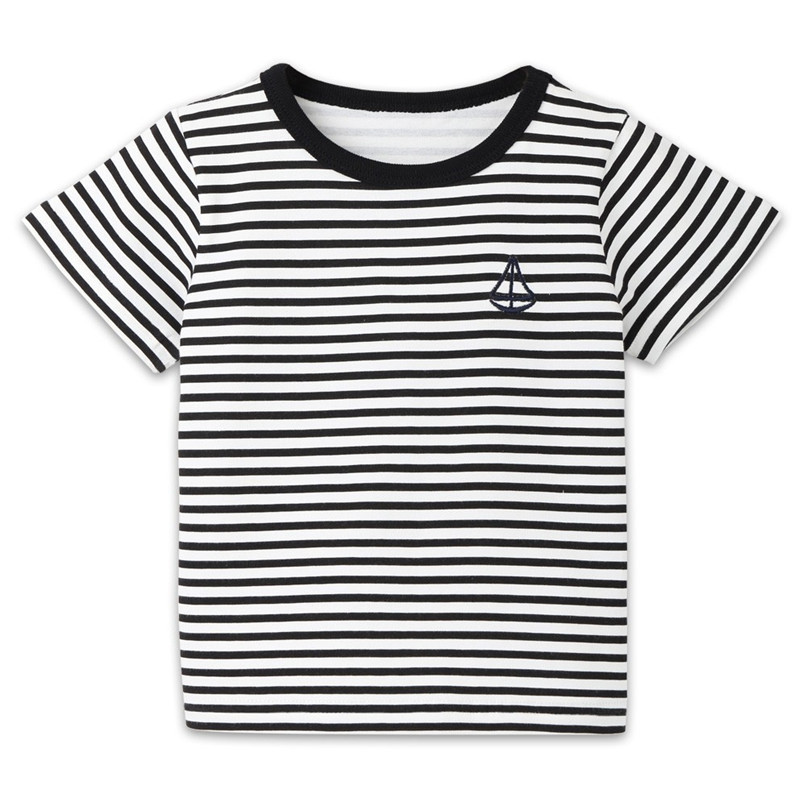 Summer Baby Boy Girl Tops And Tees Children Kids Boy Girl Short Sleeve Striped Top T-shirt Clothes Baby Boy Girl Clothes JE13#F (3)