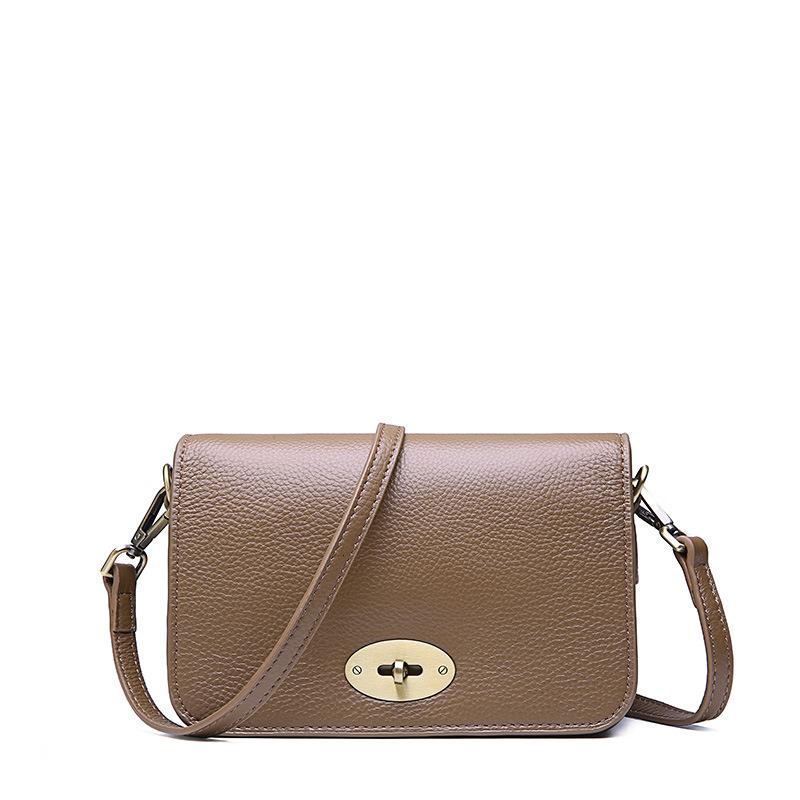 Head 2019 Layer Cowhide Oblique Wild Joker Satchel Female Packet Single Shoulder Simplicity Small Square Package Handbag Bags Handbags