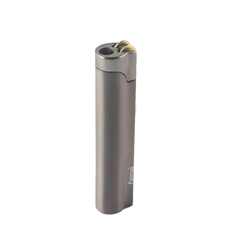 Новое Поступление Подлинная Aomai Компактный Зажигалка Факел Шлифовальный Круг Огонь Прямые Зажигалки Прикуриватель
