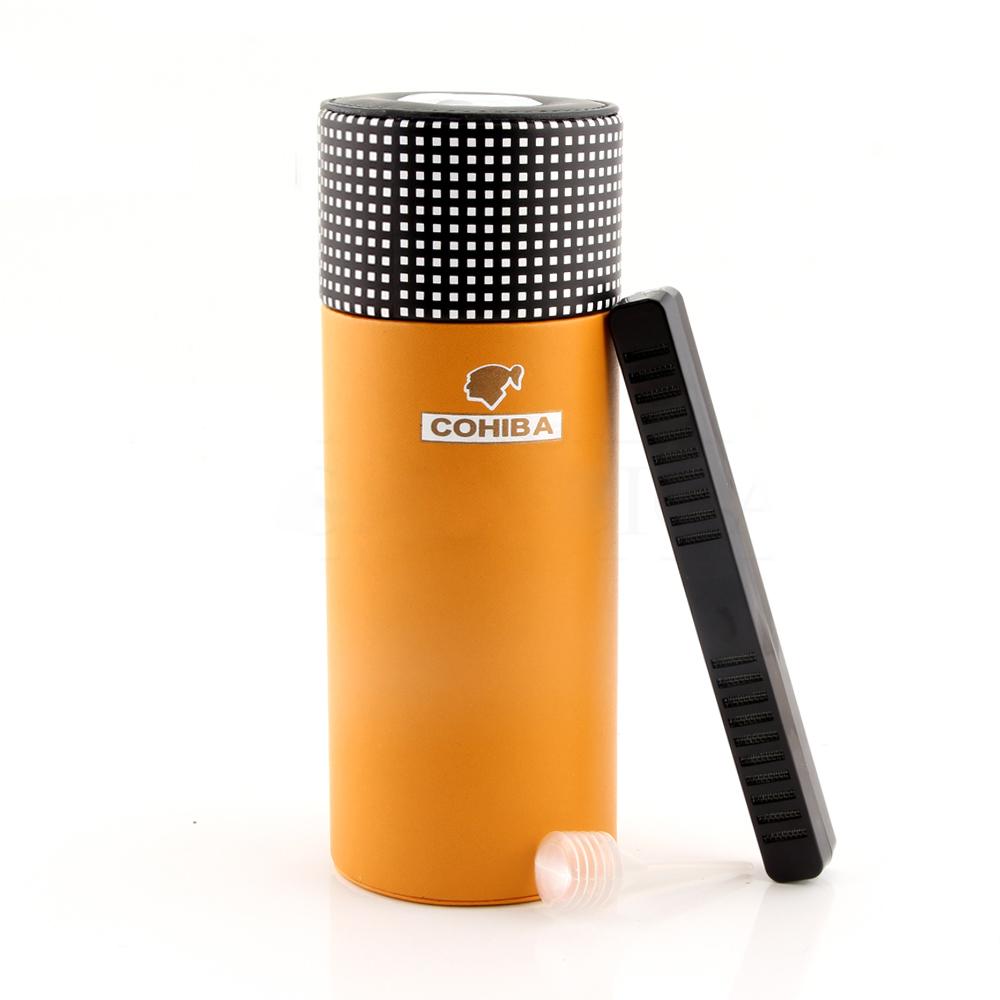 New Hot 2019 Leather Travel Humidor Cigar Box Cedar Wood Portable Cigar Case Jar W/Humidifier Hygrometer Humidor Box Fit 5 Cuba Cigars