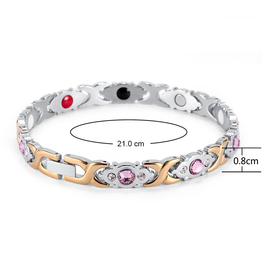 Stainless Steel Bracelet Magnetic osb-1541sg (5)