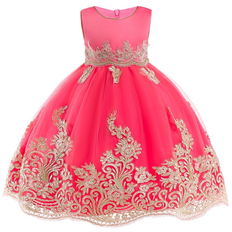 Flower-Girl-Princess-Wedding-Party-Dresses-Gold-Wire-Embroidery-Kids-Prom-Ball-Gowns-Formal-Baby-Clothes