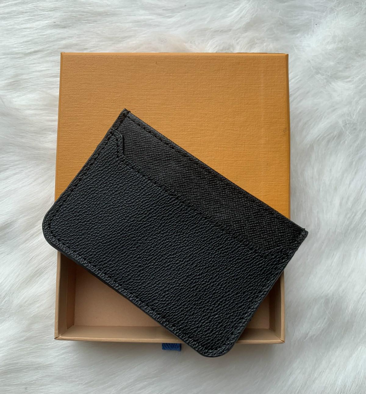 NUOVO Pelle di Vitello PURO porta carte di credito portafoglio donna cassa nera Clutch borsa viola