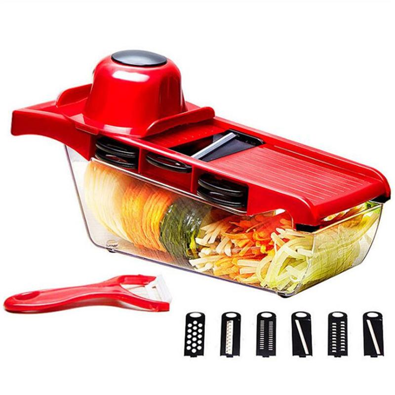 Cortador Rebanador De Verduras Frutas Patatas Pelador de Cocina Herramienta Gadgets creativo