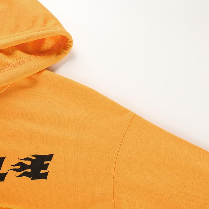8Sweetown Plus Size Crop Top Long Sleeve Tshirt Women Orange Letter Printed Tee Shirt Femme Girl Power Woman T Shirt Hoodie Top