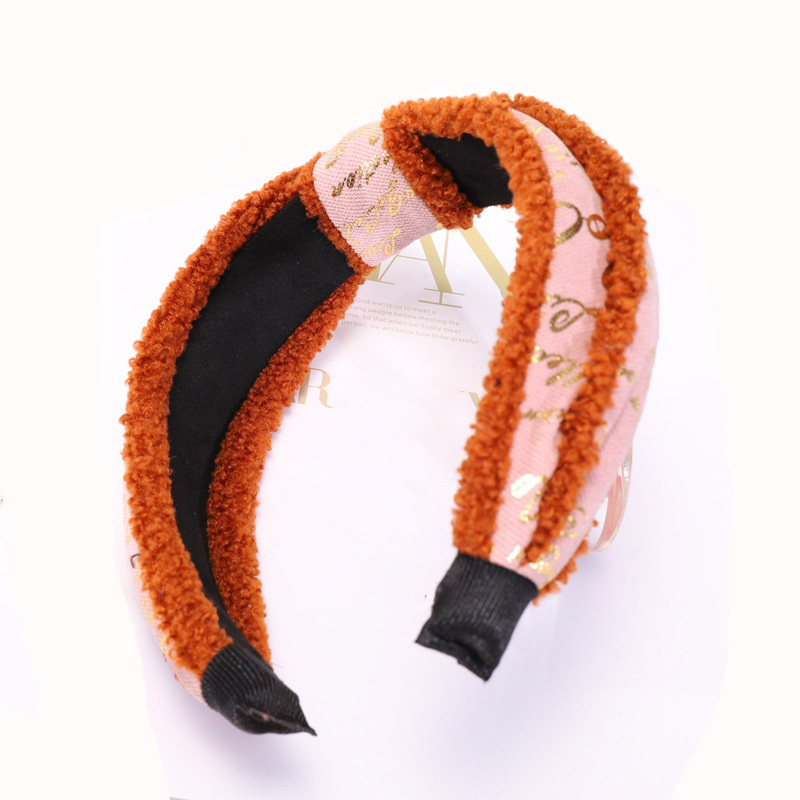 2 center knotted hairbands for girls