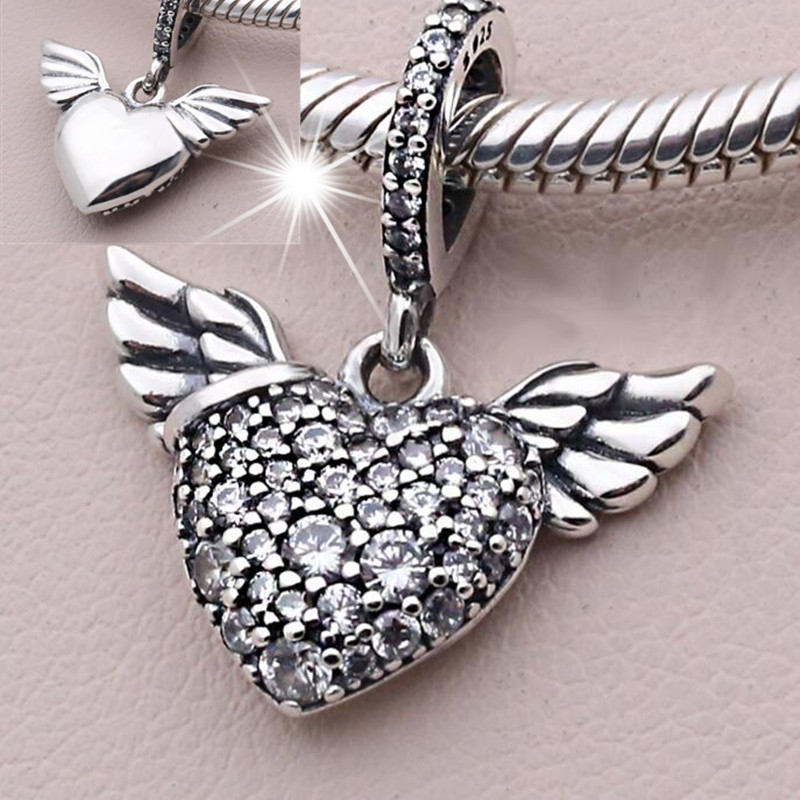 charms pandora coeur ailes