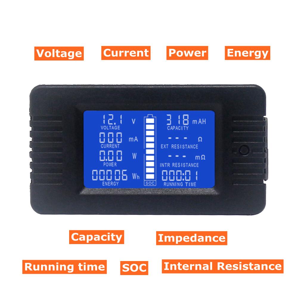 Blue LED Digital DC Ammeter 100A//75mV Shunt Resistor US SHIPPING