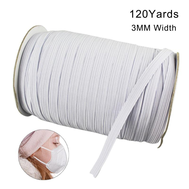 Strap Braided Elastic Rope High Elasticity 100 Yards Elastic Band for Sewing 1//2 inch Black Sewing Craft DIY Mask and Bedspread Cuff Bungee for Handmade Making Flex Fabrics Cord