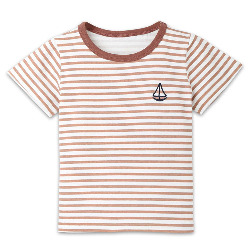 Summer Baby Boy Girl Tops And Tees Children Kids Boy Girl Short Sleeve Striped Top T-shirt Clothes Baby Boy Girl Clothes JE13#F (4)