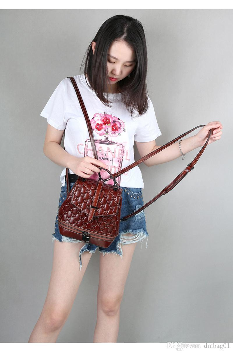 Pink Sugao Pop Style Luxury Designer Handbag Backpack Women Top High Quality Cowhide Leather Backpack Shoulder Bucket Fashion Backpack
