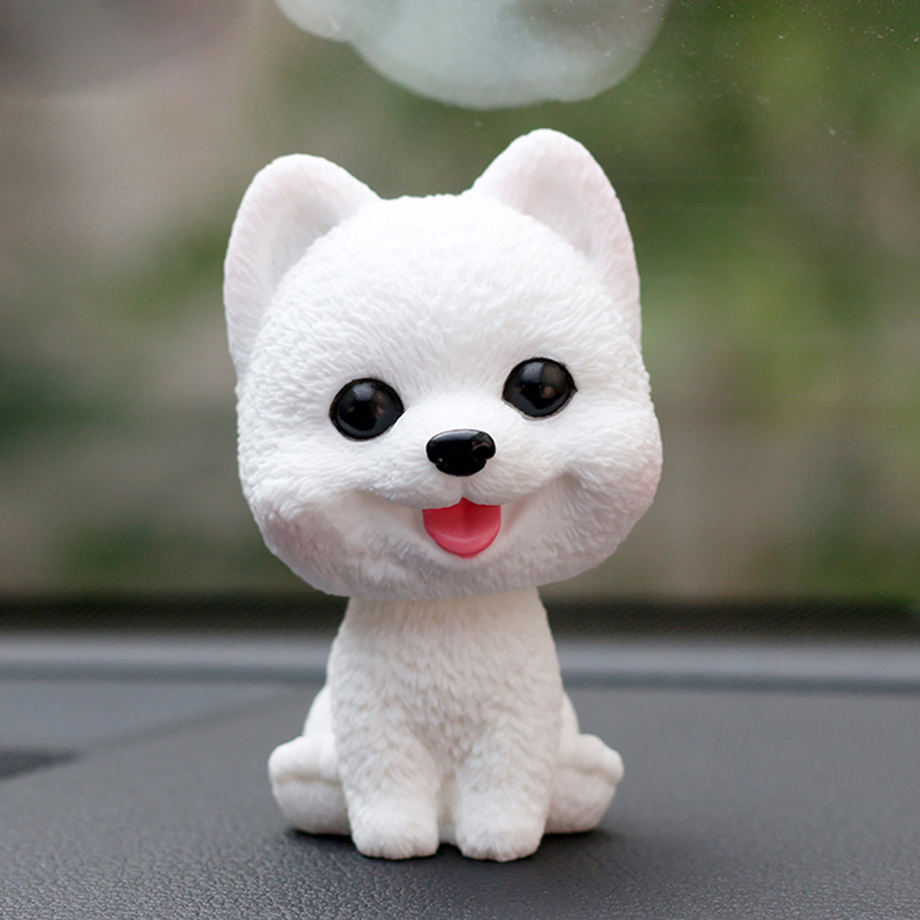 Bobblehead Dog Nodding Puppy Toys Lovely Car Dashboard Decor Toy Shaking Head Dolls Auto interior Accessory Cute Christmas Gifts (10)