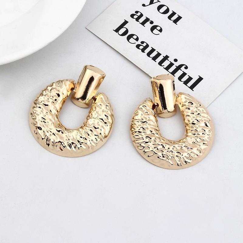Vintage Big Geometric Square Dangle Statement Earrings For Women Earings Fashion Jewelry Modern Women's Earrings CE468