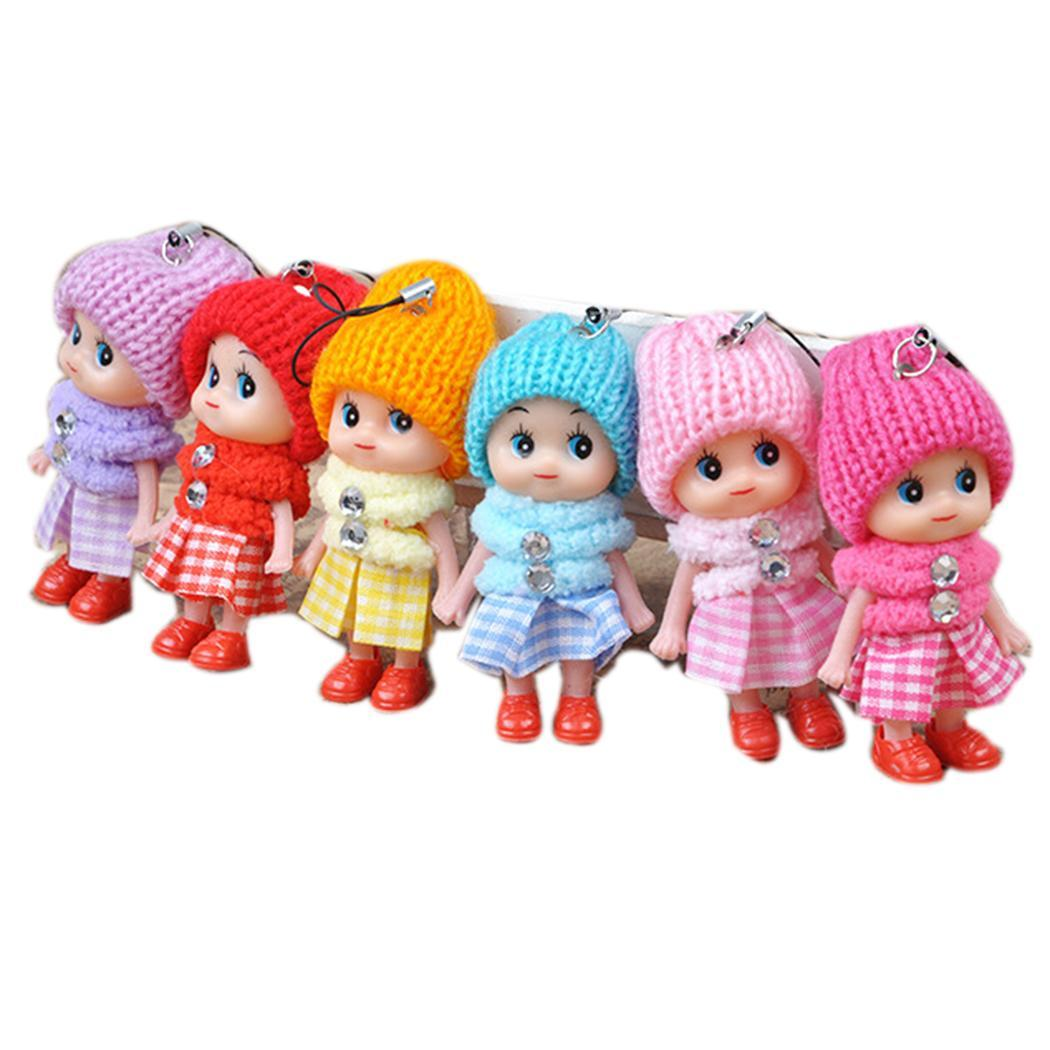 New Fashion Kids Soft Interactive Baby Dolls Toy Mini Stuffed Toys Fashion New Silicone Soft Mini Dolls