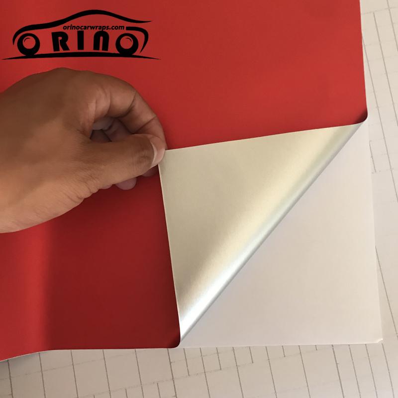 Red Metallic Chrome Vinyl Wrap Film-5