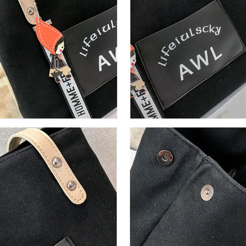 Women Canvas Handbag Fashion Designer Ladies Letter Crossbody Messenger Shoulder Bag Female Fashion Purse Sac A Main SS7382 (3)