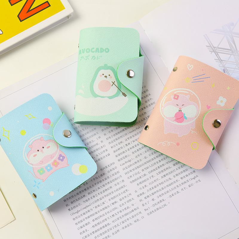 Family Passport Holder Cute Squirrel Cartoon Animal Character Travel Wallet RFID Blocking Document Organizer Bag