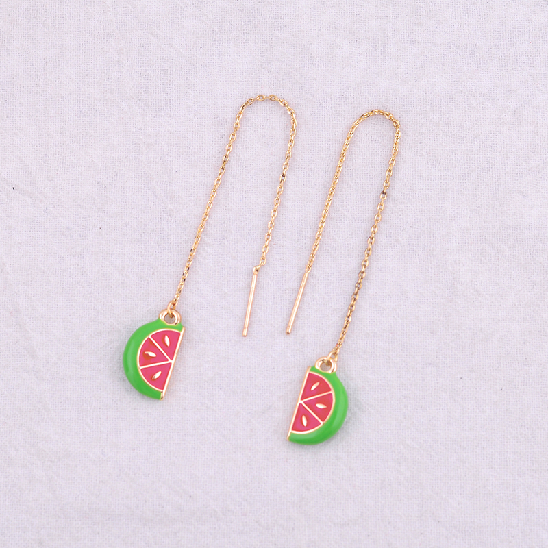 Enamel Charms Strawberry Fruit Pendant DIY Jewelry Making Small Pendants 977H