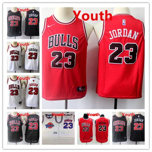 New Chicago Bulls #23 Jordan Retro Basketball Jersey Black lightning pattern
