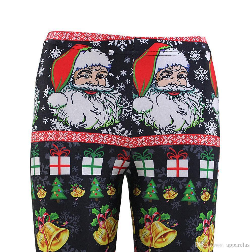 Santa Claus Explosion Models Slim Hip Sexy Leggings Christmas Feet Trousers Women European And American Holiday Clothing