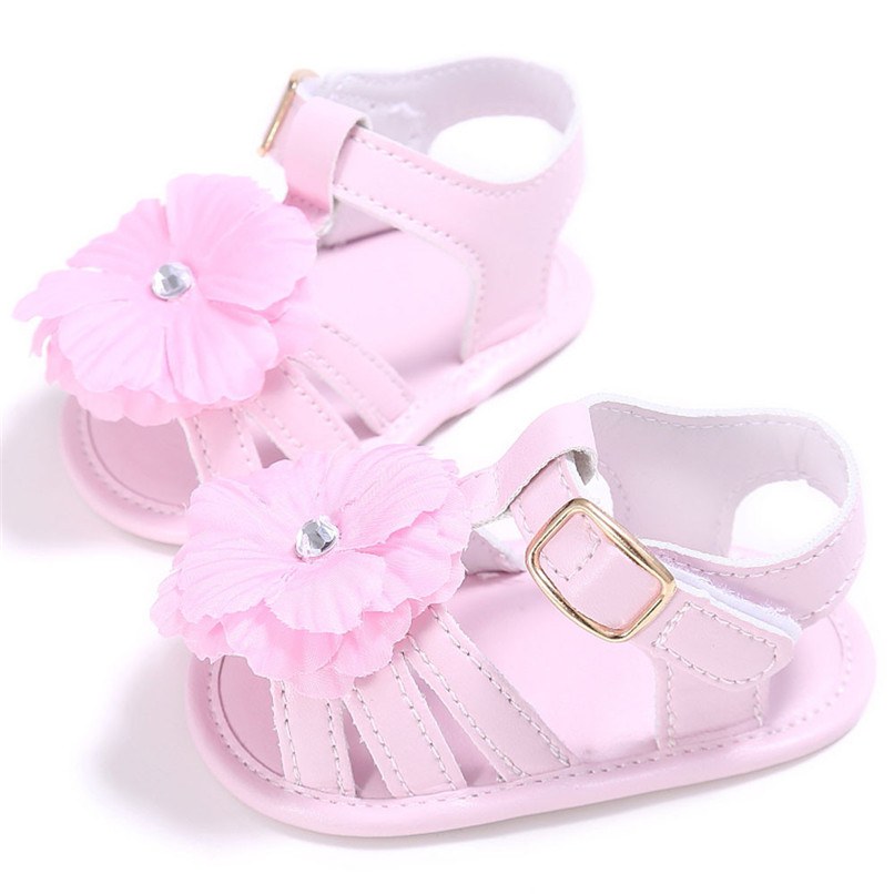 4 Color Summer Baby Shoes Toddler Girl Crib Shoes Newborn Flower Soft Sole Anti-slip First Walker NDA84L24 (14)