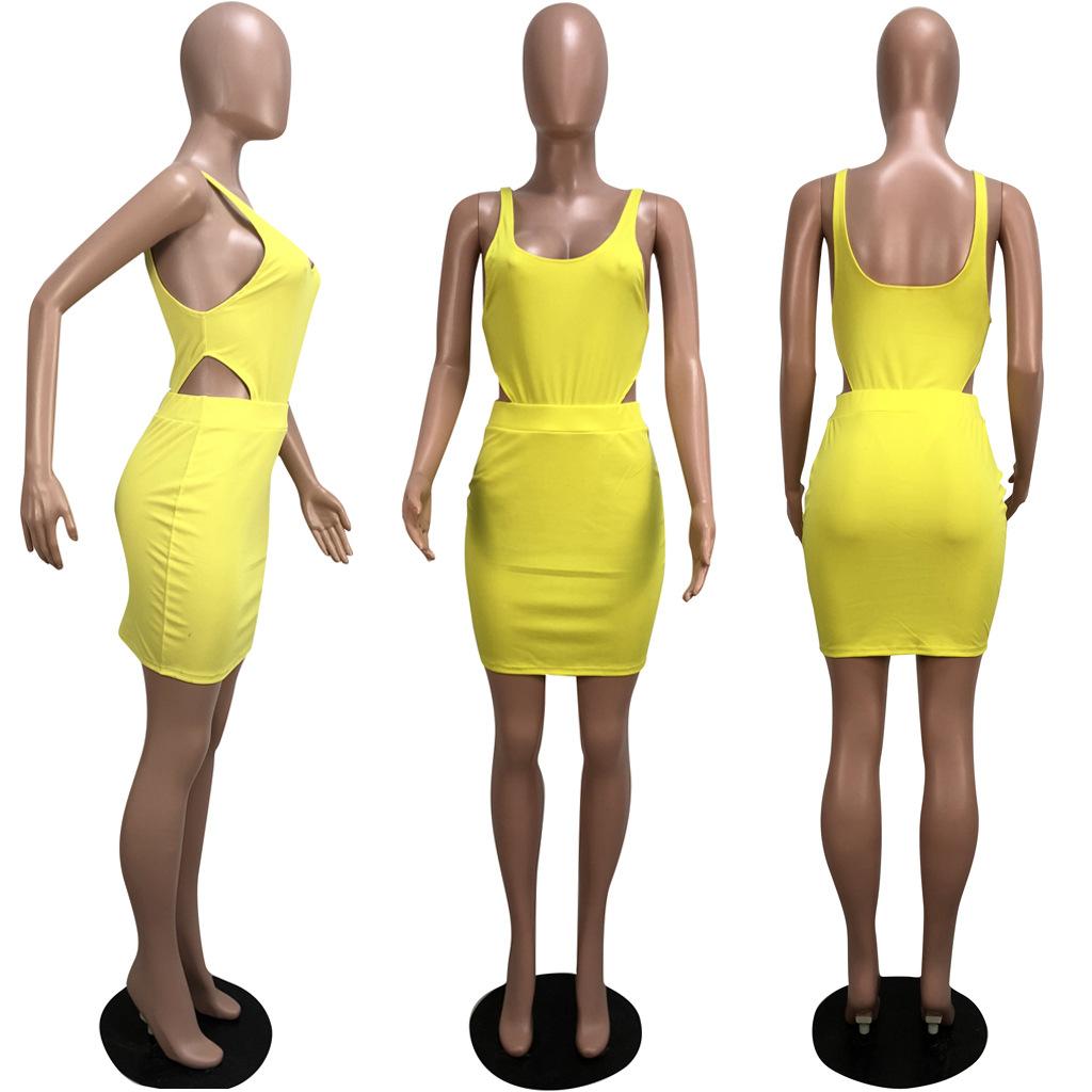 Novo estilo mulheres verão sexy duas peças set top colheita e saias cintura bodycon terno casual mangas backless outfit