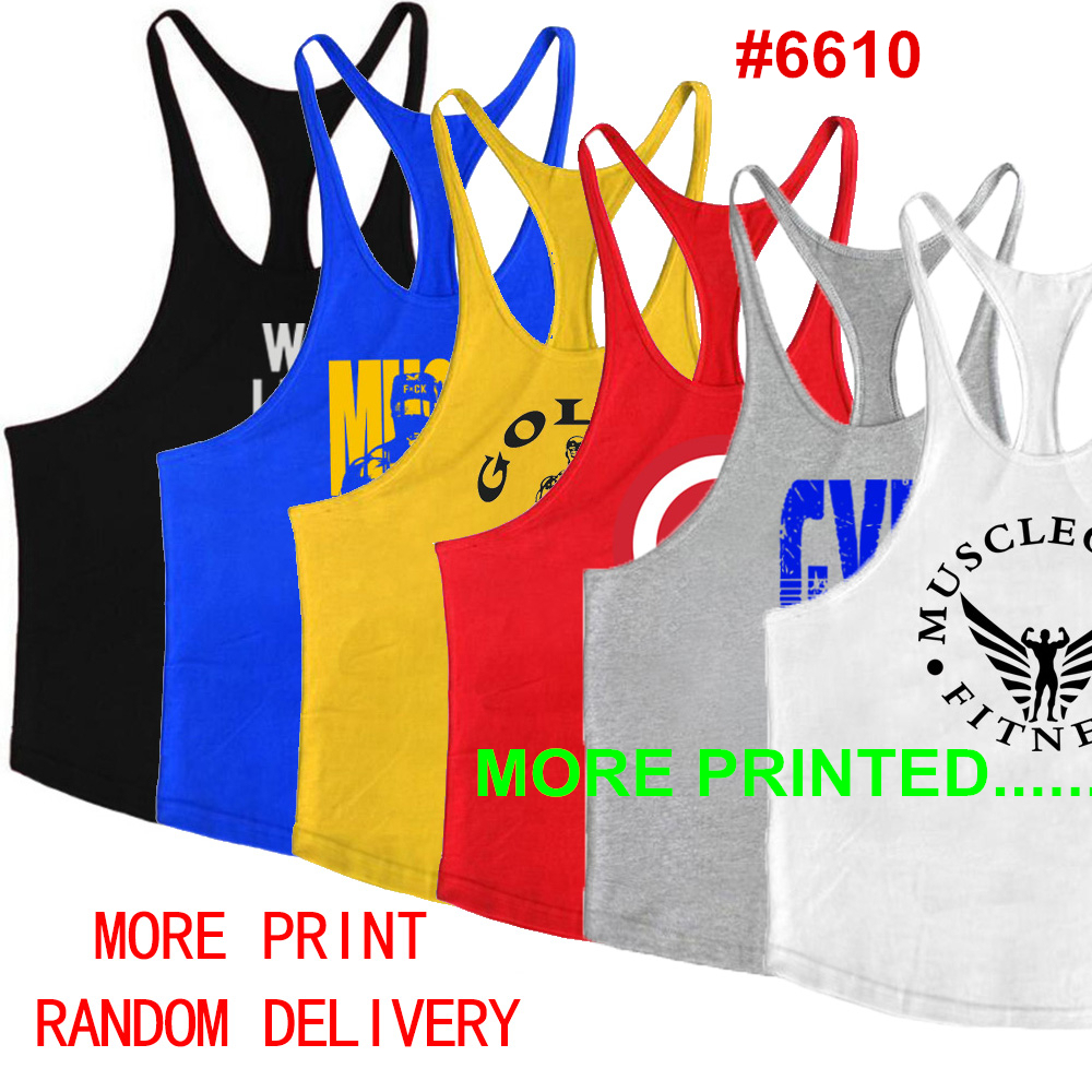 2019 Clothes Brand Gyms Singlet Canotte Bodybuilding Stringer Tank Top Men Fitness Shirt Muscle Sleeveless Vest Y19042204