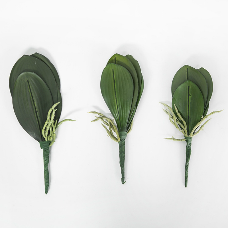 5Pcs Artificial Butterfly Orchid Leaf Plastic Flower Leaf Wedding Party Decorate