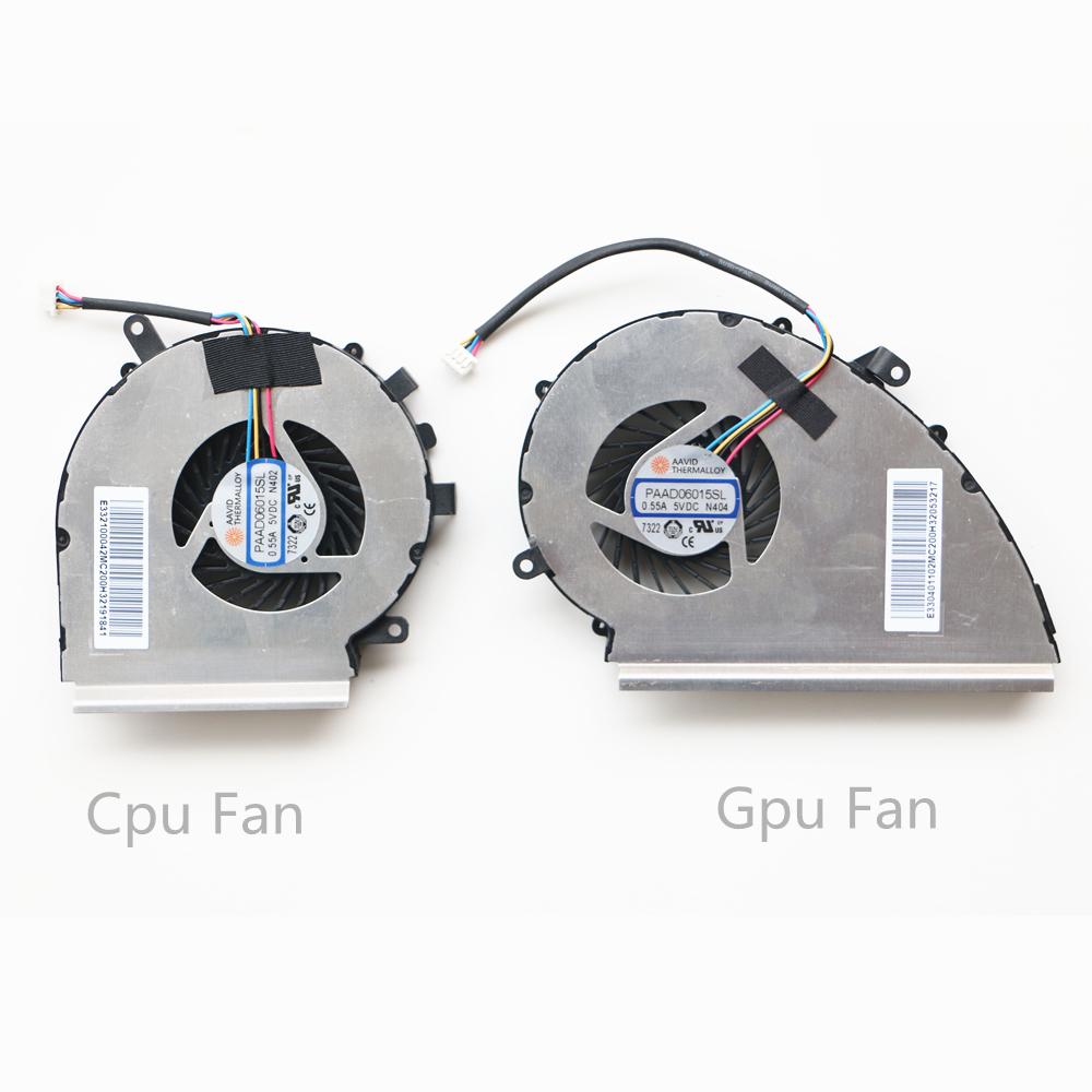 New For MSI GE62VR GE72VR GP62VR GP62MVR GP72VR CPU Fan PAAD06015SL N402 4-pin