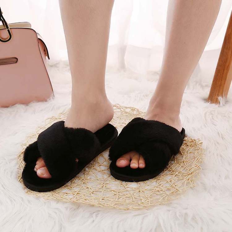 Sexy2019 Autumn And Pattern Slipper Comfortable Keep Warm Flat Bottom Home Furnishing Crossing Baby One The Word Drag Woman