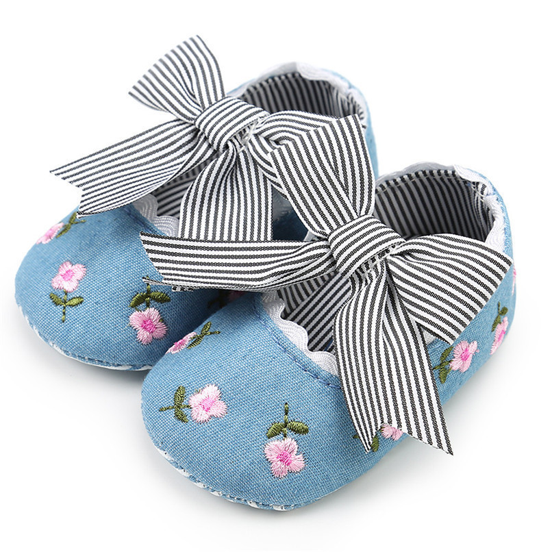 3 Color Baby Girl Shoes Toddler Kids Fashion Embroidery Flower Butterfly-knot First Walkers Kids Shoes NDA84L23 (23)