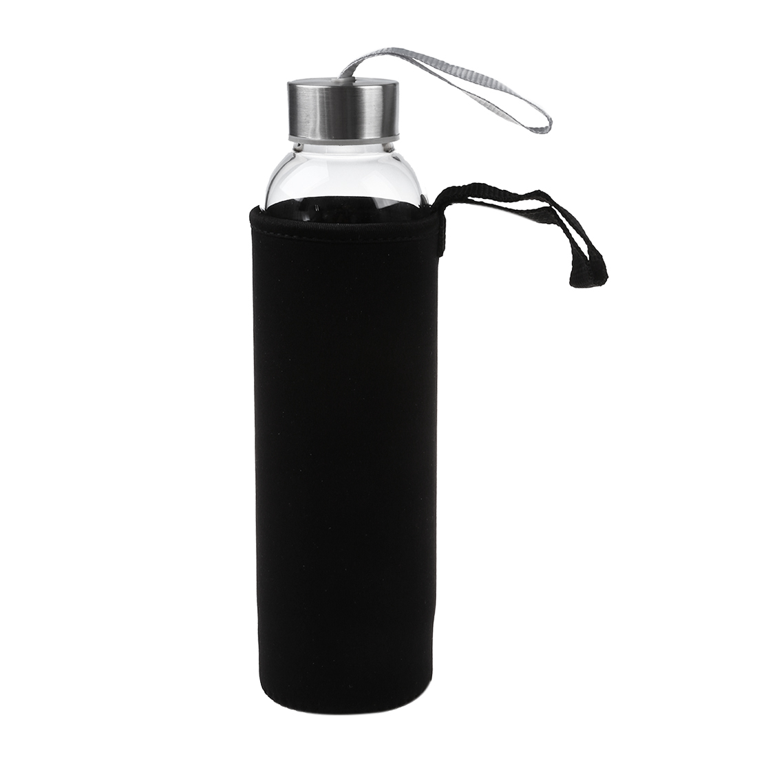 Glass Sport Water Bottle With Tea Filter Infuser Protective Bag 550ml C19041601
