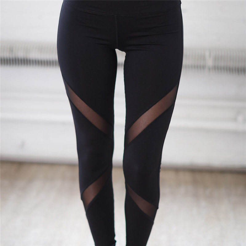 Quick-drying-Net-Yarn-Yoga-Pants-Black-High-Waist-Elastic-Running-Fitness-Slim-Sport-Pants-Gym (2)