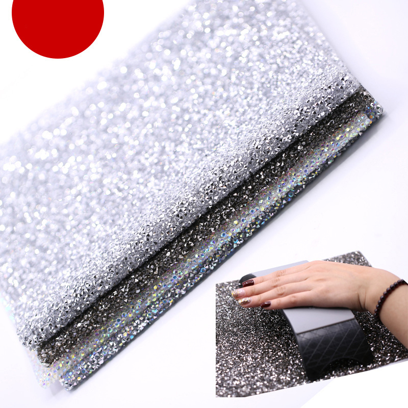 Angnya luxueux tapis de table en velours plein diamant / luxe haut de gamme nail art titulaire oreiller coussin vernis à ongles titulaire support de bras souple T190624