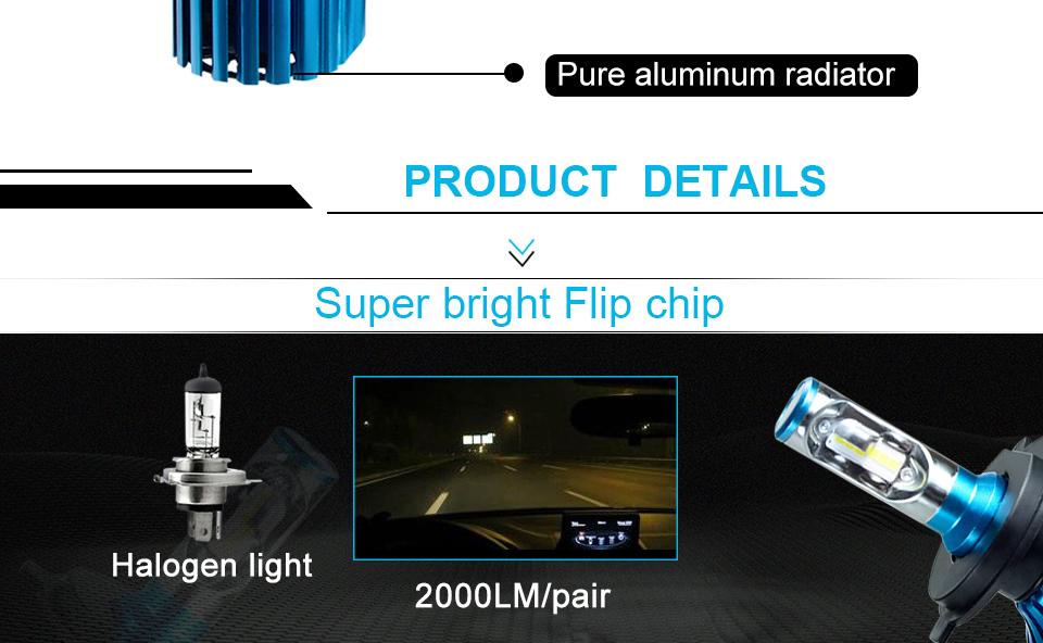 car headlight LED car lamp car head bulb (2)